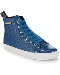 Love Moschino - Quilted High-top Sneaker - Lyst