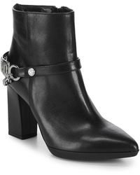 Love Moschino - Point Toe Leather Booties - Lyst