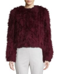 Lamarque - Classic Textured Feather Jacket - Lyst