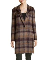 Lafayette 148 New York - Marabela Alpaca Wool Plaid Coat - Lyst