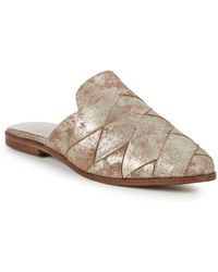 Seychelles - Existence Metallic Suede Mules - Lyst