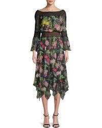 Tadashi Shoji - Floral Lace Bell-sleeve Dress - Lyst