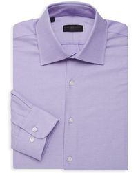 Ike By Ike Behar - Textured Long-sleeve Dress Shirt - Lyst