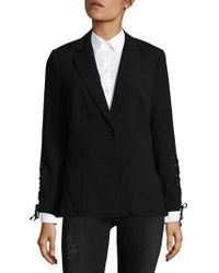 Saks Fifth Avenue Black - Lace-up Blazer - Lyst