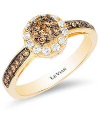 Le Vian - Chocolatier® Honey Goldtm Chocolate & Vanilla Diamond® Ring - Lyst