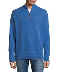 Tommy Bahama - New Flip Side Pro Reversible Quarter-zip Cotton Sweater - Lyst
