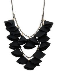 Natasha Couture - Floral Textured Statement Necklace - Lyst