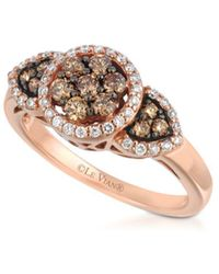 Le Vian - Chocolatier Diamond & 14k Rose Gold Ring - Lyst