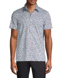 Perry Ellis - Printed Button-down Shirt - Lyst