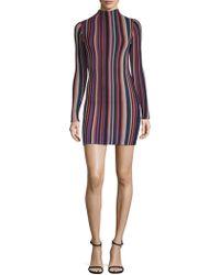 Ronny Kobo - Jessica Striped Mini Dress - Lyst
