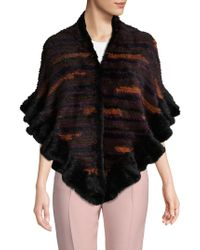 Belle Fare - Multicolored Dyed Mink Fur Shrug - Lyst