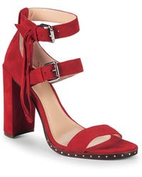 Vince Camuto - Fringed Suede Sandals - Lyst