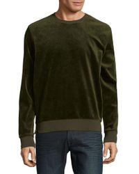 Vince - Side Zip Crewneck Long-sleeve Sweatshirt - Lyst
