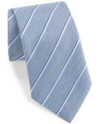 John Varvatos - Striped Silk-blend Tie - Lyst