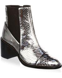Alexandre Birman - Margareth Metallic Python Boots - Lyst