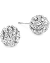 Adriana Orsini - Crystal Artemis Ball Earrings - Lyst