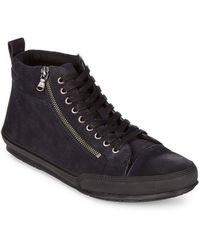 John Varvatos | Leather Sneakers | Lyst