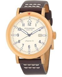 Filson - Scout Stainless Steel And Leather-strap Watch - Lyst