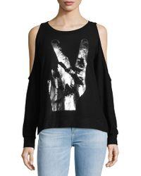 Lauren Moshi - Peace Hand Cold-shoulder Pullover - Lyst