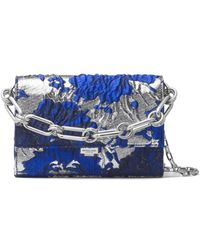 Michael Kors - Yasmeen Metallic Leather Clutch - Lyst