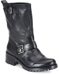 Cole Haan - Hemlock Leather Moto Boots - Lyst