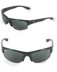 Ray-Ban - Rectangle Wrap Sunglasses - Lyst