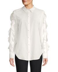 Saks Fifth Avenue - Ruffled Sleeve Button-down Shirt - Lyst