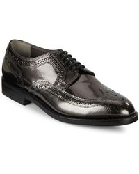 Clergerie - Leather Wing-tip Oxford Shoes - Lyst