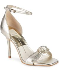 Dolce Vita - Helana Bow Leather Sandals - Lyst
