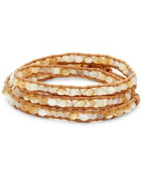 Chan Luu - Multi-stone & Leather Wrap Bracelet - Lyst