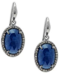 Bavna - Sterling Silver, Sapphire & Diamond Earrings - Lyst