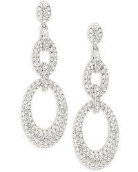 Adriana Orsini - Pavé Oval Link Drop Earrings - Lyst