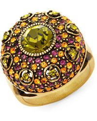 Heidi Daus - Swarovski Crystal Infusion Of Colour Cocktail Ring - Lyst