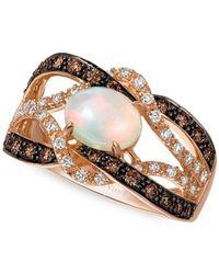 Le Vian - Chocolatier® 14k Strawberry Gold®, Neopolitan Opaltm, Chocolate Diamond® & Vanilla Diamond® Ring - Lyst