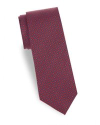 Saks Fifth Avenue - Flower Silk Tie - Lyst