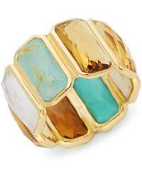 Ippolita - Rock Candy 18k Yellow Gold Rectangular Gemstone Ring - Lyst