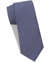 Saks Fifth Avenue - Horse Bit Silk Tie - Lyst
