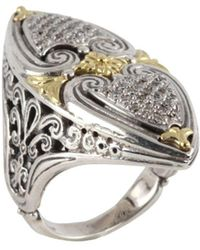Konstantino - Asteri White Diamond, 18k Yellow Gold And Sterling Silver Ring - Lyst