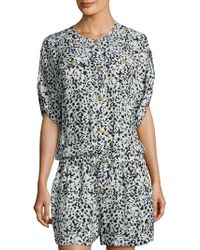 Balmain - Leopard-print Silk Jumpsuit - Lyst