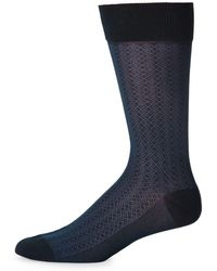 Bruno Magli - Mini Diamond Mid-calf Socks - Lyst