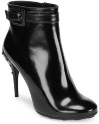 Tod's - Leather Block Booties - Lyst