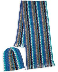 Missoni - Two-piece Knit Hat & Scarf Set - Lyst