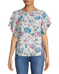 Laundry by Shelli Segal - Floral Flutter Top - Lyst