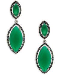 Saks Fifth Avenue - Crystal Double Drop Earrings - Lyst