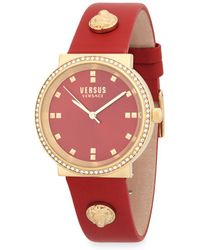 Versus - Goldtone Stainless Steel Leather Band Watch - Lyst