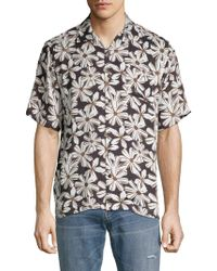 Standard Issue - Floral Button-down Shirt - Lyst