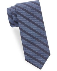 Saks Fifth Avenue - Silk Stripe Tie - Lyst