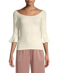 Rachel Pally - Nate Ribbed Bell-sleeve Top - Lyst