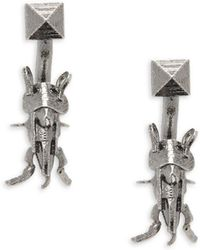 Valentino - Studded Bug Drop Earrings - Lyst