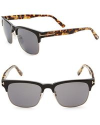Tom Ford - 55mm Clubmaster Sunglasses - Lyst